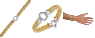 Macy's Diamond Ring Accent Mesh Bracelet in Vermeil and Sterling Silver (1/4 ct. t.w.)