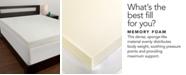 Comfort Revolution 4'' Memory Foam Mattress Toppers