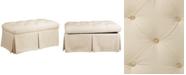 Skyline Marin Fabric Skirted Storage Bench