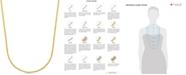 Macy's Crisscross Chain Necklace (1-3/4mm) in 14k Gold