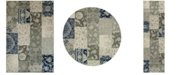 JHB Design Tidewater Patchwork Ivory/Grey Area Rugs