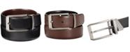 Perry Ellis Portfolio Men's Leather Mr. Pebble Reversible Belt
