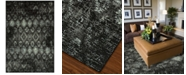 "D Style CLOSEOUT! Menagerie MEN2162 Black 4'11"" x 7'5"" Area Rug"