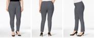Alfani Plus & Petite Plus Size Tummy-Control Pull-On Skinny Pants, Created for Macy's