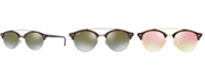 Ray-Ban Sunglasses, RB4346 CLUBROUND DOUBLE BRIDGE
