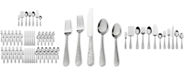 International Silver 67-Pc. Garland Frost Flatware & Hostess Set Service for 12, Created for Macy's