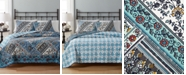 Martha Stewart Collection CLOSEOUT!  100% Cotton Antique Market Reversible Full/Queen Quilt, Created for Macy's