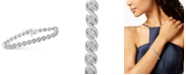 Macy's Diamond Twist Bracelet (1 ct. t.w.) in Sterling Silver