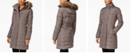 Michael Kors Faux-Fur-Trim Down Puffer Coat