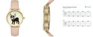 kate spade new york Women's Grand Metro Vachetta Leather Strap Watch 38mm