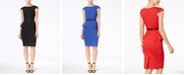 XOXO Juniors' Cap-Sleeve Peplum Sheath Dress