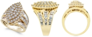 Macy's Diamond Cluster Statement Ring (3 ct. t.w.) in 14k Gold