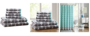 Intelligent Design Lita Cotton 6-Pc. Geometric Jacquard Towel Set