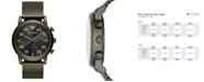 Emporio Armani Men's Green Stainless Steel Mesh Bracelet Watch 43mm