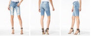GUESS Destructed Denim Bermuda Shorts