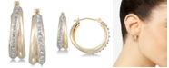 Diamond Fascination Diamond Accent Double Interlocking Hoop Earrings in 10k Gold