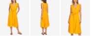 1.STATE Ruffled Midi Dress