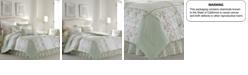 Laura Ashley King Harper Green Comforter Set