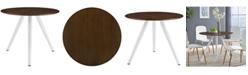 "Modway Lippa 36"" Round Walnut Dining Table with Tripod Base"