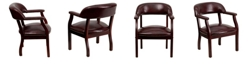Flash Furniture Oxblood Vinyl Luxurious Conference Chair With Accent Nail Trim