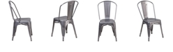 Flash Furniture Clear Coated Metal Indoor Stackable Chair