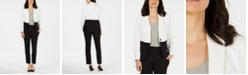 Le Suit Colorblocked-Jacket Pantsuit