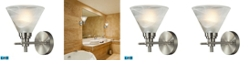 ELK Lighting Pemberton 1 Light Bath in Brushed Nickel - LED Offering Up To 800 Lumens (60 Watt Equivalent) with F