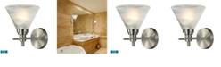 ELK Lighting Pemberton 1 Light Bath in Brushed Nickel - LED Offering Up To 800 Lumens (60 Watt Equivalent) with F