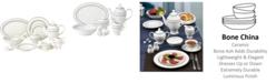 Lorren Home Trends Arianna 57-PC Dinnerware Set, Service for 8