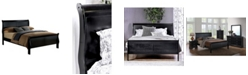 Furniture of America Cedric Full Platform Sleigh Bed