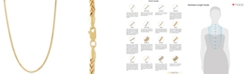 """Italian Gold Wheat Link 22"""" Chain Necklace in 14k Gold"""