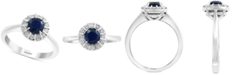 EFFY Collection EFFY® Sapphire (3/4 ct. t.w.) & Diamond (1/4 ct. t.w.) Ring in 14k White Gold