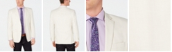 Kenneth Cole Reaction Men's Slim-Fit Stretch Cream Textured Sport Coat