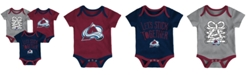 Outerstuff Colorado Avalanche Five On Three Creeper 3 Pc Set, Infants (0-9 Months)
