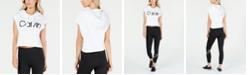 Calvin Klein Logo Cropped Sleeveless Hoodie