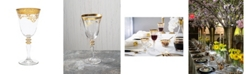 Classic Touch Set of  6 Water Glasses with Rich Design