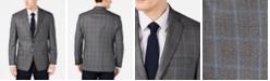 Michael Kors Men's Classic-Fit Medium Gray Windowpane Sport Coat