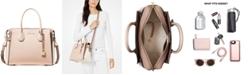 Michael Kors Mercer Belted Tricolor Pebble Leather Satchel