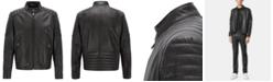 Hugo Boss BOSS Men's Galini Regular-Fit Lambskin Leather Jacket