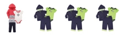 Yoga Sprout Baby Boys and Girls Hoodie, Bodysuitor Tee Top, and Pant, Bear Baby