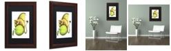 "Trademark Global Jennifer Nilsson Golden Delicious-Dragon Matted Framed Art - 11"" x 14"" x 0.5"""
