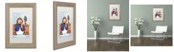 """Trademark Global Jennifer Nilsson Winter Friends Matted Framed Art - 11"""" x 14"""" x 0.5"""""""