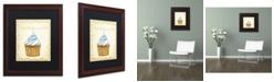 "Trademark Global Jennifer Nilsson Vanilla Cupcake Matted Framed Art - 16"" x 20"" x 0.5"""