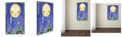 "Trademark Global Jennifer Nilsson Holiday Moon Canvas Art - 11"" x 14"" x 0.5"""