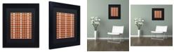 "Trademark Global Jennifer Nilsson Snow Plaid 2 Matted Framed Art - 11"" x 11"" x 0.5"""