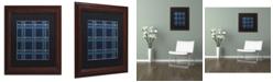 "Trademark Global Jennifer Nilsson Blue Gold Matted Framed Art - 16"" x 20"" x 0.5"""