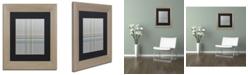 "Trademark Global Jennifer Nilsson Silver Blue Matted Framed Art - 16"" x 16"" x 0.5"""