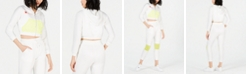 Waisted Neon-Mesh Cropped Zip-Up Hoodie