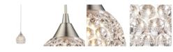 ELK Lighting Kersey Collection 1 Light Mini Pendant in Satin Nickel