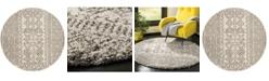 Safavieh Hudson Ivory and Gray 5' x 5' Round Area Rug
